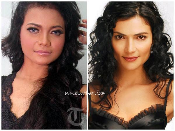 artis indonesia yang mirip pemeran/aktris telenovela