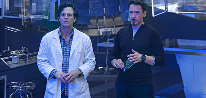 Bruce Banner şi Tony Stark în Avengers: Age Of Ultron