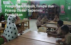 Pengertian, Tujuan, Fungsi dan Prinsip Dasar Supervisi Pendidikan