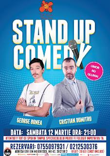 Stand-Up Comedy Sambata 12 Martie Bucuresti