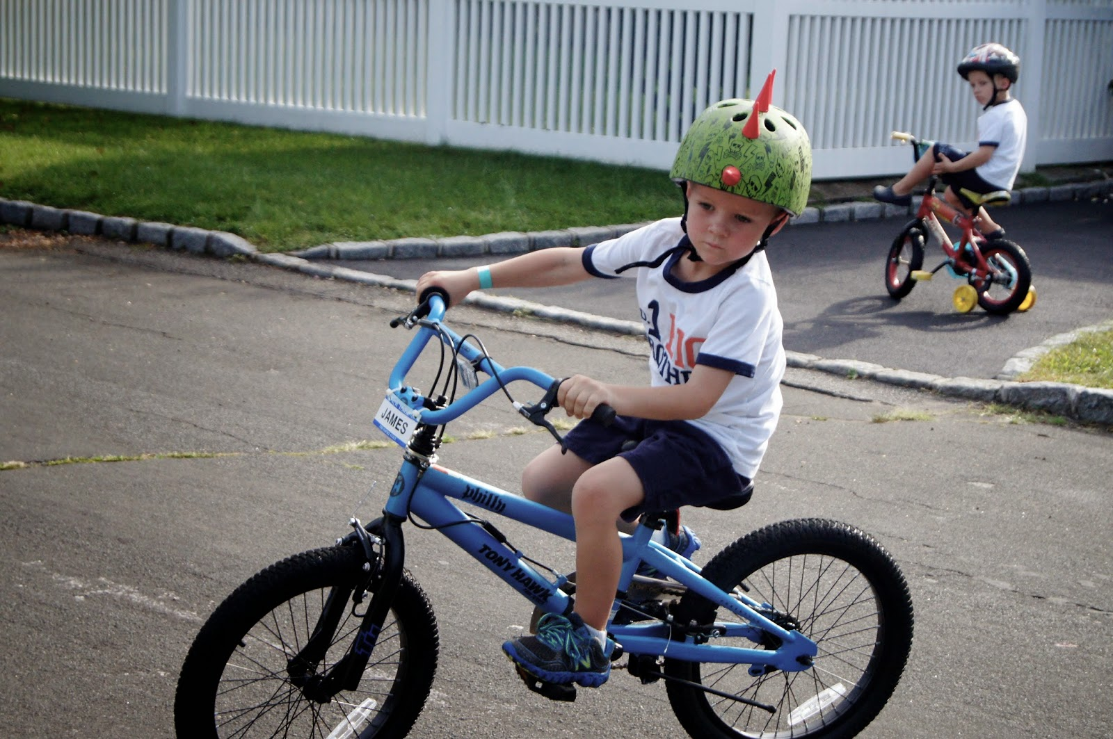 5 year old riding bike