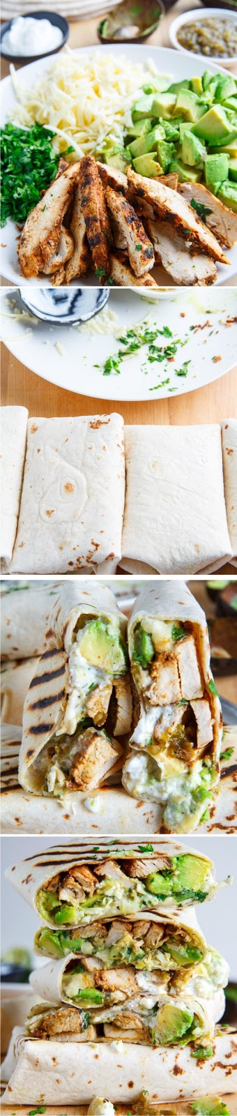 Chicken and Avocado Burritos Healthy Recipe