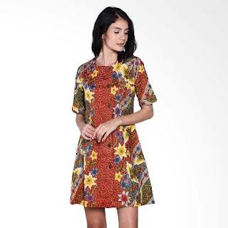 Dress Batik Kerja Kantor Modern
