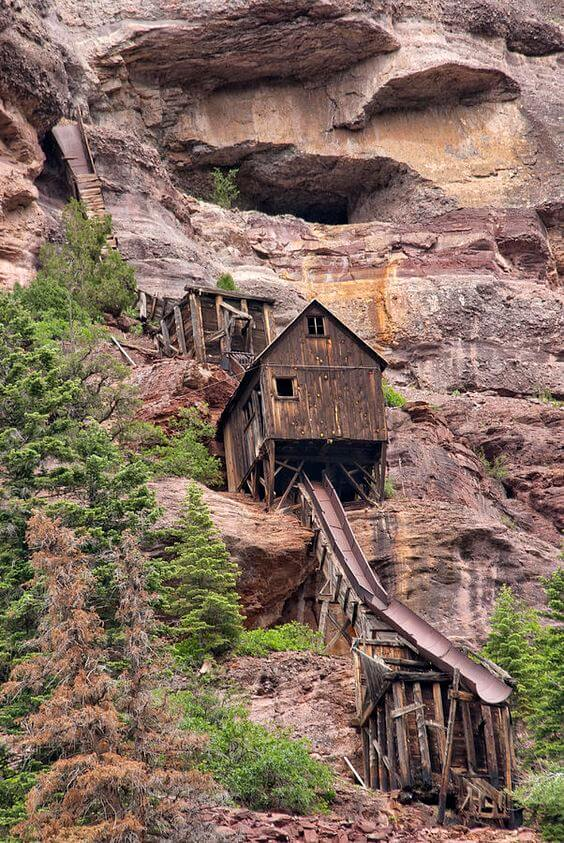 San Juan Mountains, Colorado  Abandoned Mine