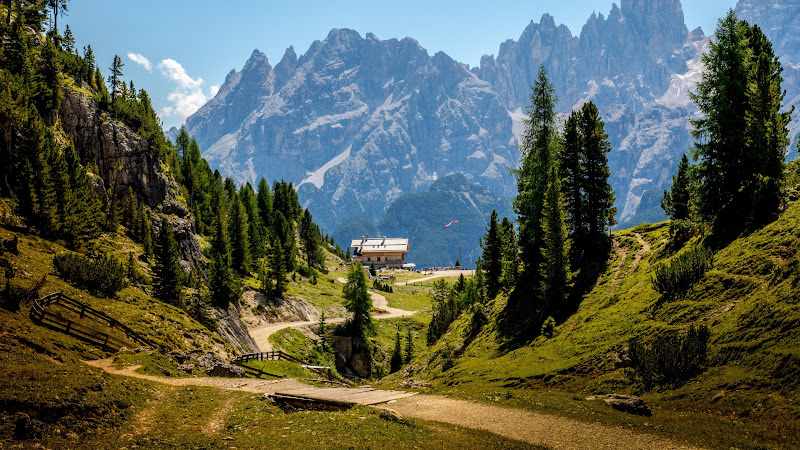 Nature Landscape with the Dolomites Mountains 2