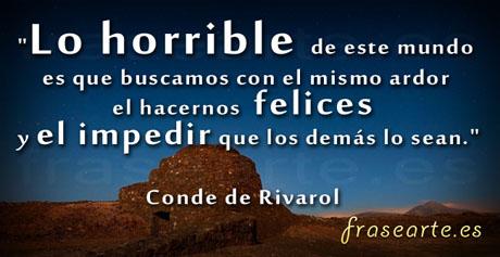 Frases para ser felices, Conde de Rivarol