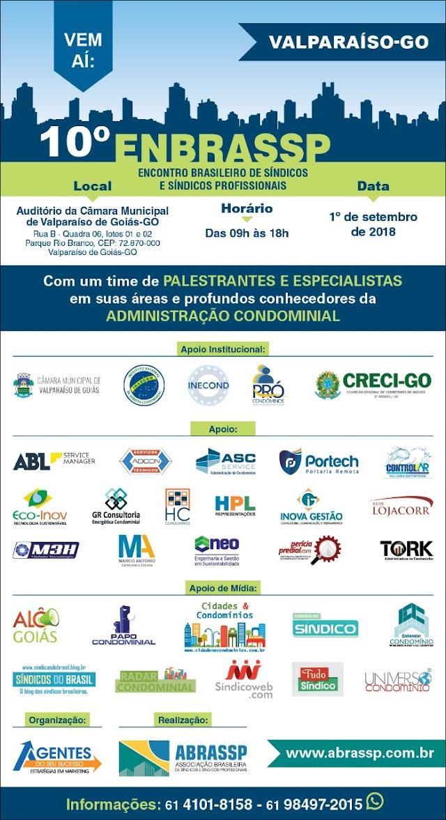 Encontro Brasileiro de Síndicos e Síndicos Profissionais em Valparaíso de Goiás-GO