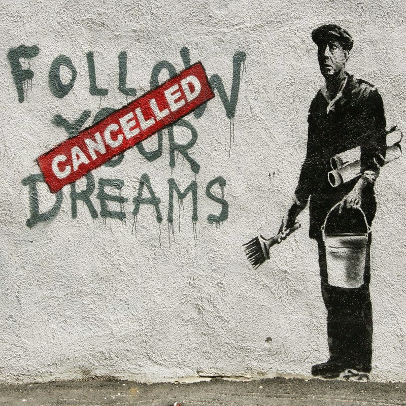 15 Of Banksy's Most Iconic Street Artworks - Follow Your Dreams