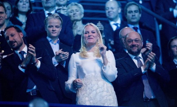 Crown Princess Mette-Marit, Crown Prince Haakon and Marius Borg Høiby at the Nobel Peace Prize Concert
