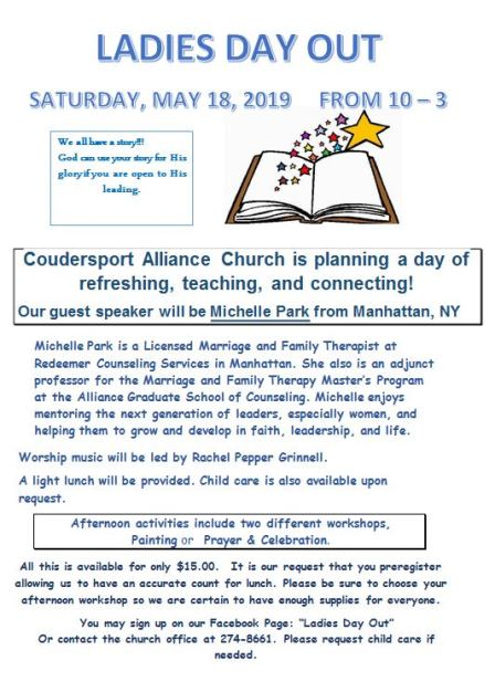 5-18 Ladies Day Out Alliance Church