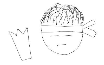 アイコン 「勉強」 (作: 塚原 美樹) ~ 鉛筆の外形を描く