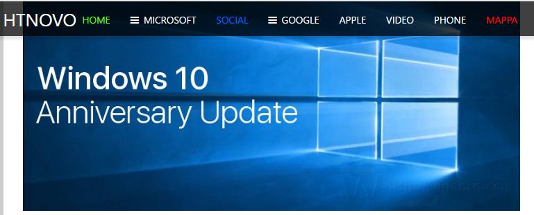 Strumento Microsoft per la risoluzione dei problemi post-Anniversary Update HTNovo