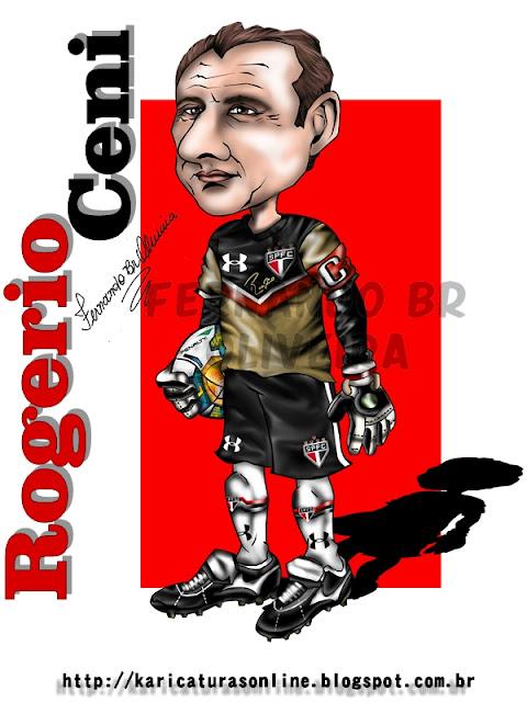 Rogério Ceni-São Paulo 2011_Caricaturas Online