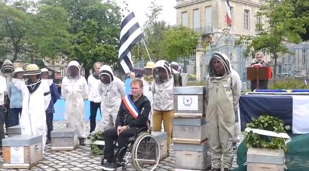 Γάλλοι μελισσοκόμοι τέλεσαν την κηδεία της μέλισσας video