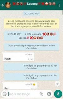 Groupe de rencontres sur WhatsApp