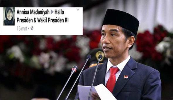 Gadis Cantik 'Annisa Madaniyah' Sebar Meme Presiden Jokowi, Jadi Buronan