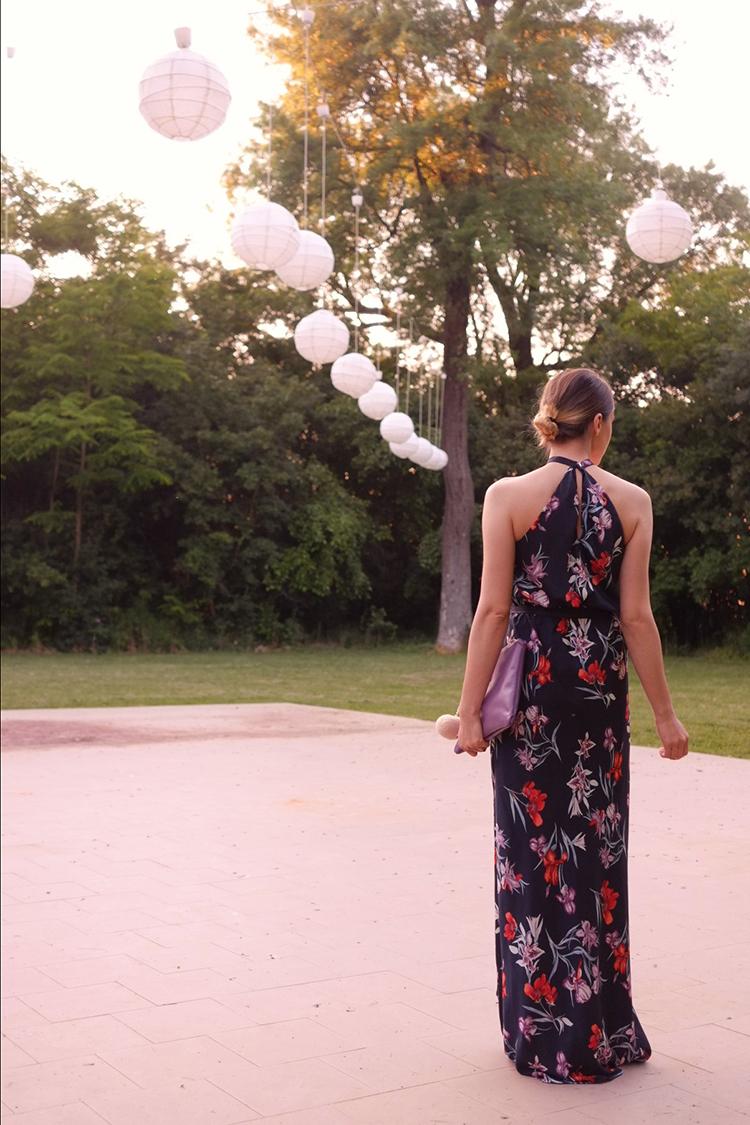 wedding wear floral maxi dress