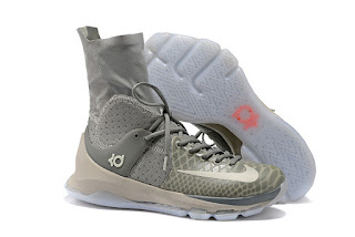 Sepatu Basket Nike KD8 Zoom Elite High Grey, nike kd elite murah, harga nike kd 8 elite high, nike basket murah,