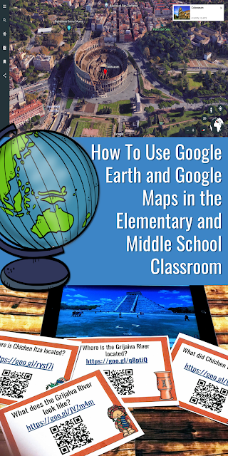 Help your students travel the world by using Google Maps and Google Earth in Your Middle School and Elementary School Classroom! #googleearth #googlemaps #taskcards #middleschool #elementarysocialstudies