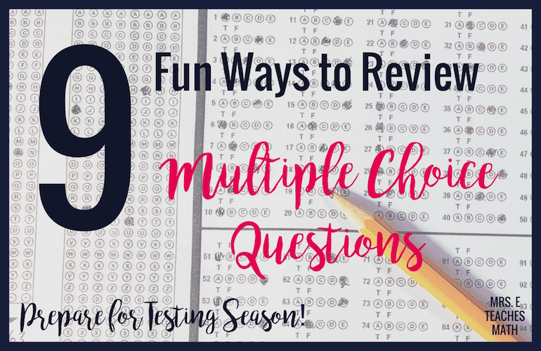 These fun activities for practicing multiple choice questions will help prep your students for state testing.  Check out these strategies so to keep your students engaged and focused while preparing for their end of course tests and final exams!
