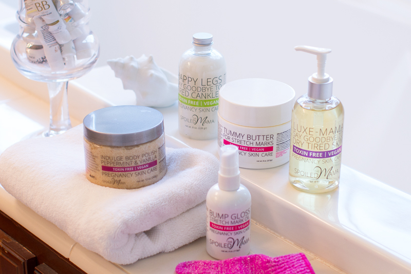 the spoiled mama pregnancy skincare line giveaway