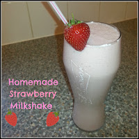 Homemade Strawberry Ice Cream Milkshake