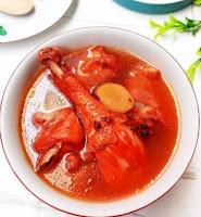 Sup Ayam Merah Penambah Darah dan Gizi
