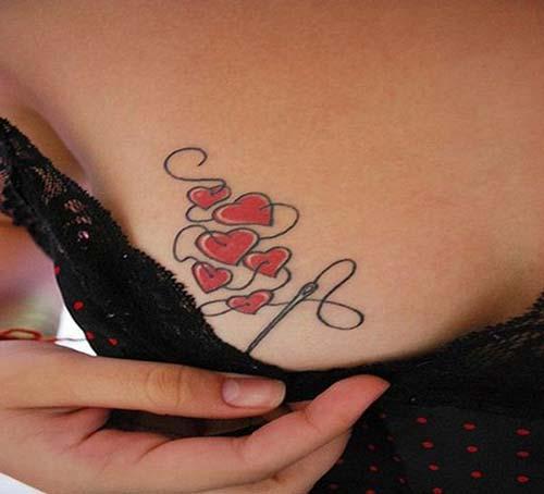 çoklu kalp dövmesi multiple heart tattoo