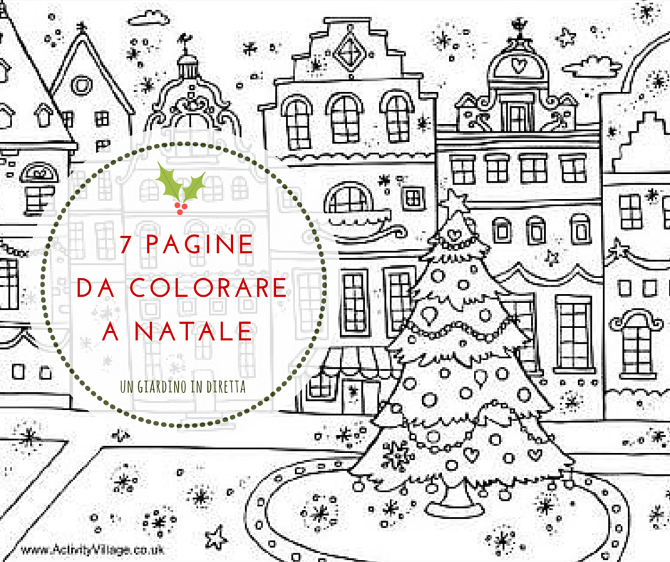 7 pagine da colorare con matite e pennarelli a Natale - un ...
