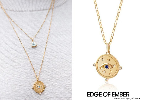 Meghan Markle wore Edge of Ember Visionary Charm Necklace