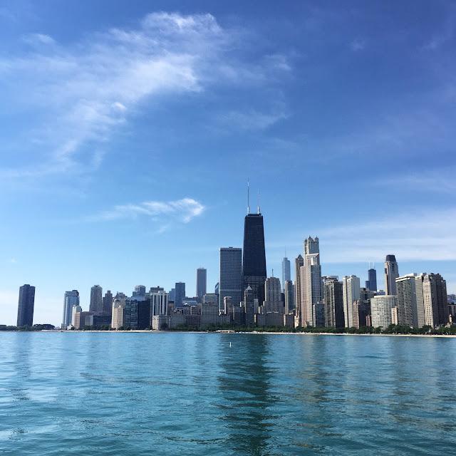 North Avenue Beach Chicago Skyline View