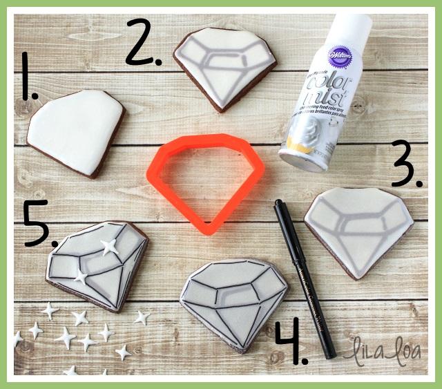 Easy tutorial for making diamond sugar cookies