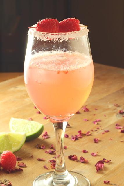 Raspberry Rosewater Gin Rickey | sweetpeasandsaffron
