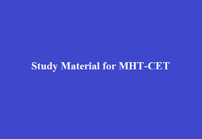 Study Material for MHT-CET