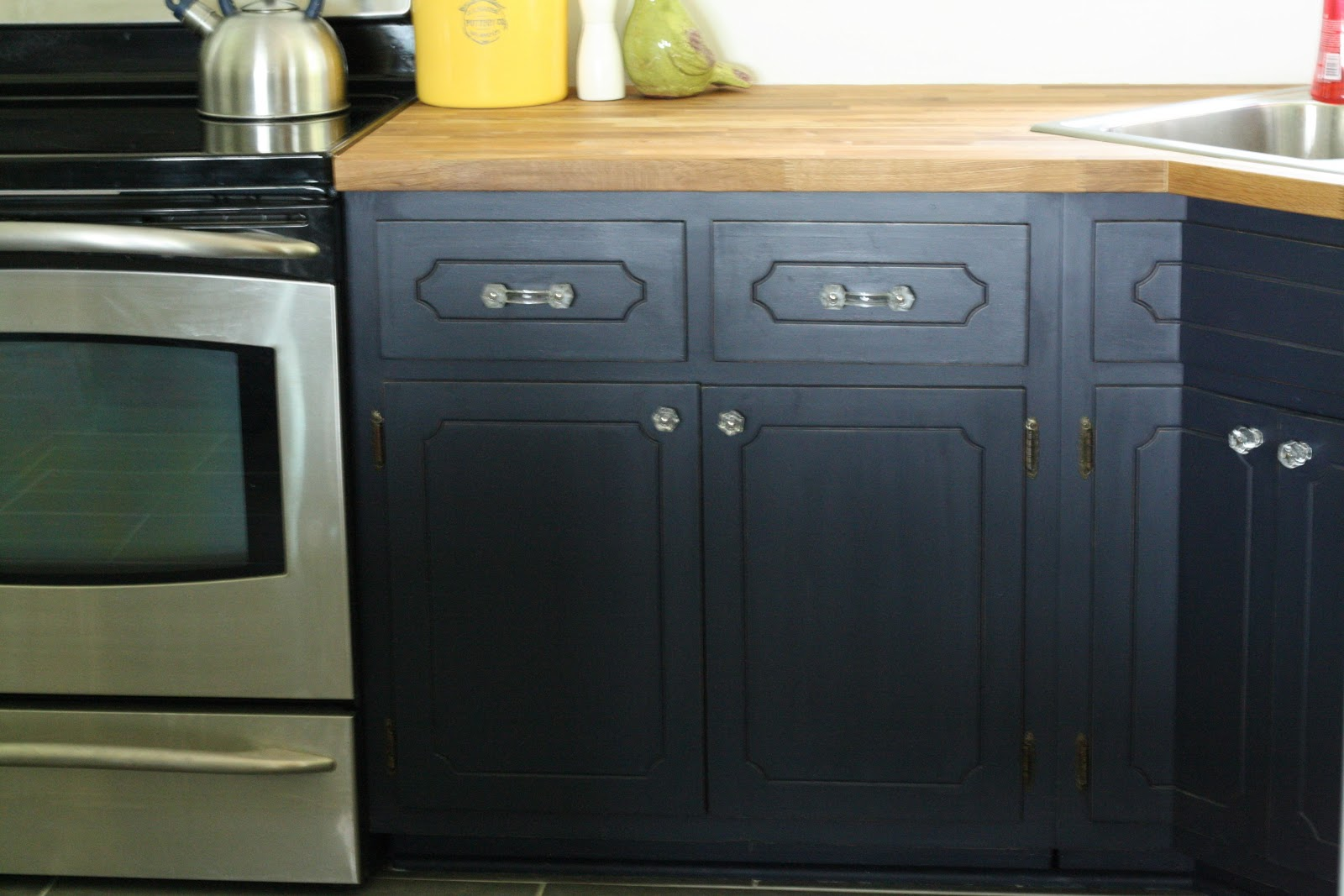 Can You Paint Countertops Formica Coastal Blue Painted Kitchen Cabinets
