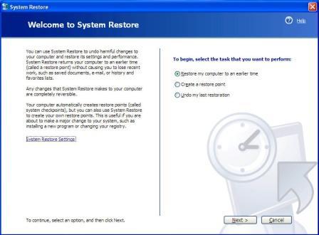 Cara Menggunakan System Restore Pada Komputer
