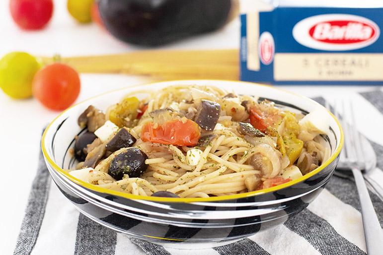 recette Spaghettis à l'aubergine