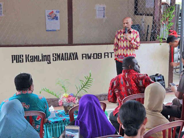 Benhur Tomi Mano Apresiasi Poskamling di Kota Jayapura