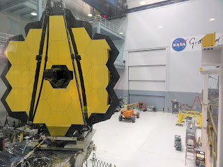JWSTArt Event, James Webb Space Telescope in clean room