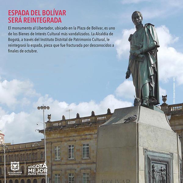 Alcaldia-Bogota-espada-Simon-Bolívar-compromiso-patrimonio-cultura