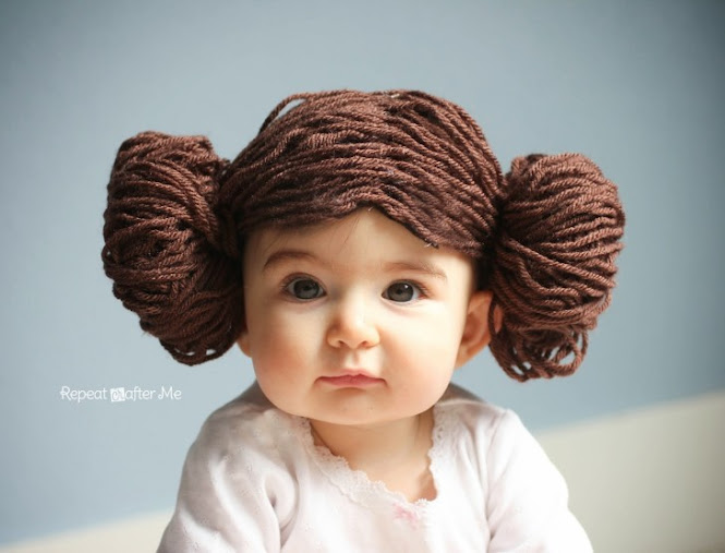 Princess Leia Yarn Wig DIY
