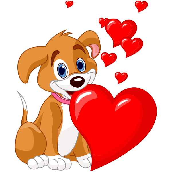 Puppy and Hearts