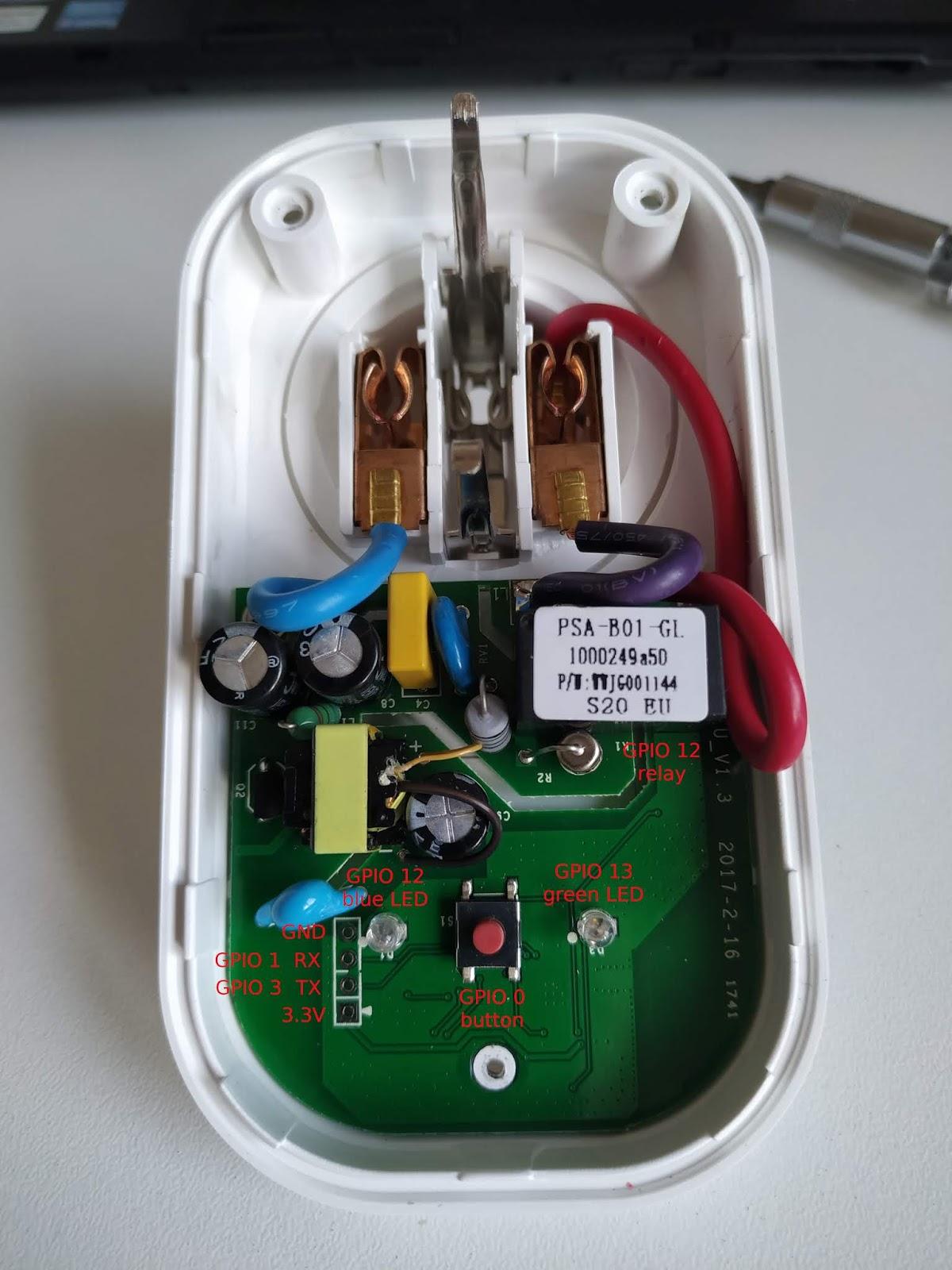 Flashing Tasmota firmware to Sonoff S20 | Srdan's blog