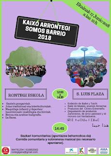 Cartel de la jornada festiva de Somos Rontegi Gara