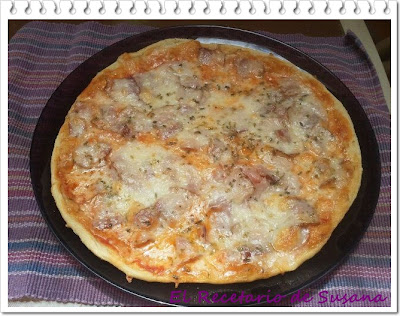 Receta de pizza fina y crujiente