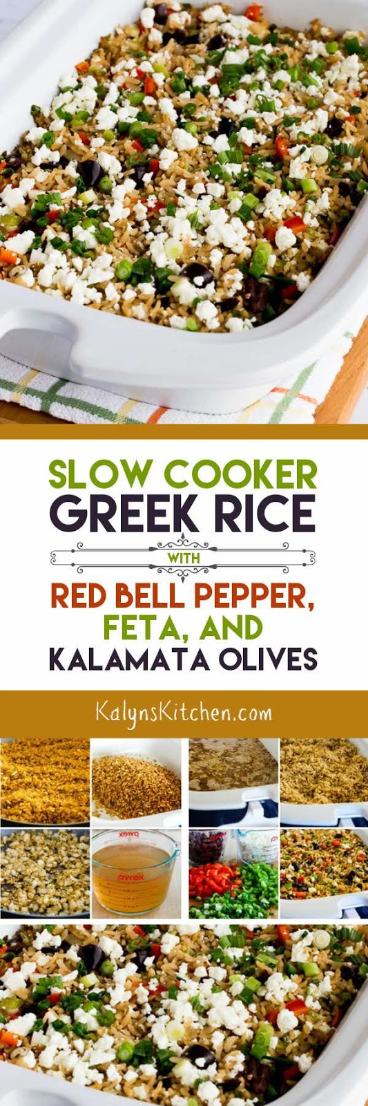 Kalyn's Kitchen�: Slow Cooker Greek Rice With Red Bell Pepper, Feta, And