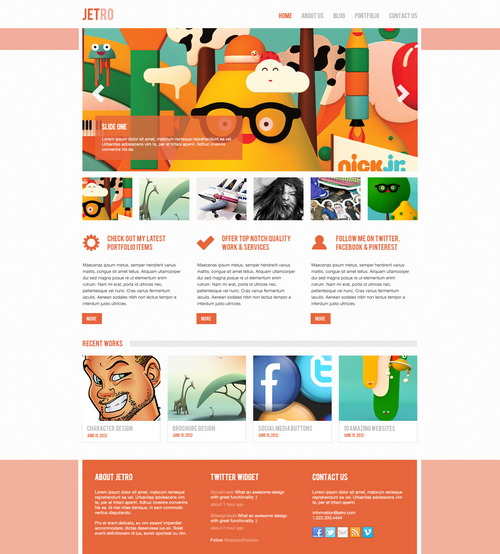 Slick PSD website Theme