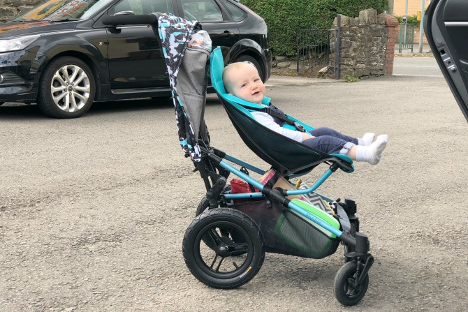 Dot in his new Micralite pram