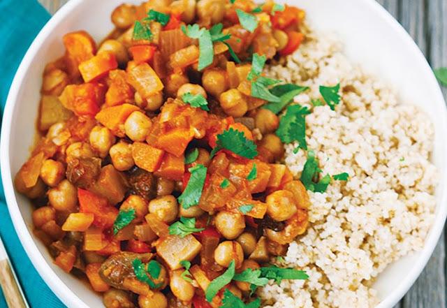 Moroccan chickpea stew #comfortfood #vegetarian