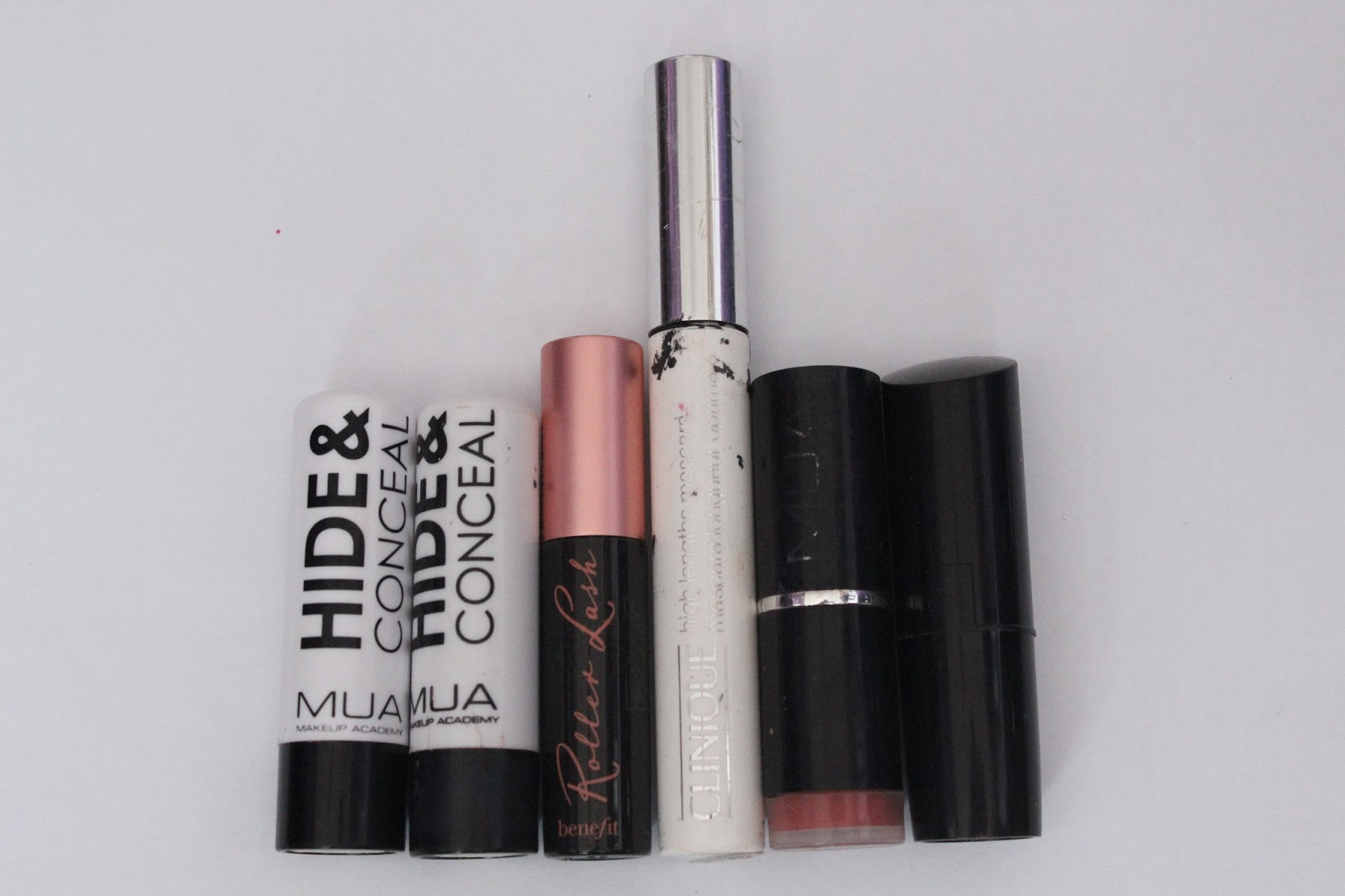 a8a1c7c9d03 All of these products needed throwing out. The MUA concealer is my  favourite ever, and I have repurchased it time after time, and it's only £1!